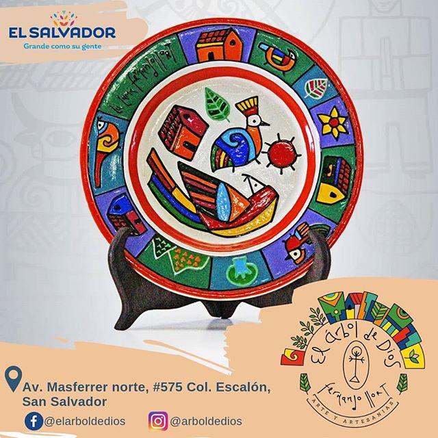 """Plato con diseño """"La Loma"""" 🎨🇸🇻✨"""