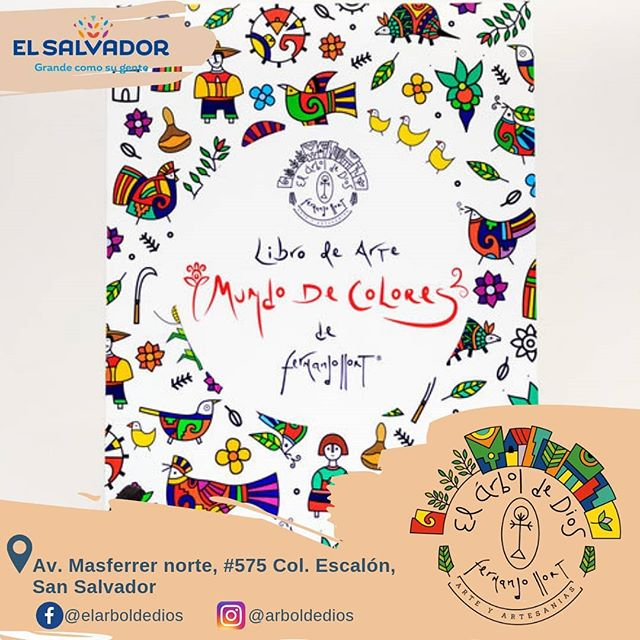 Encuentra diseños únicos creados por el artista salvadoreño Fernando Llort 🇸🇻✨ Libro de arte - Mundo de Colores 🎨