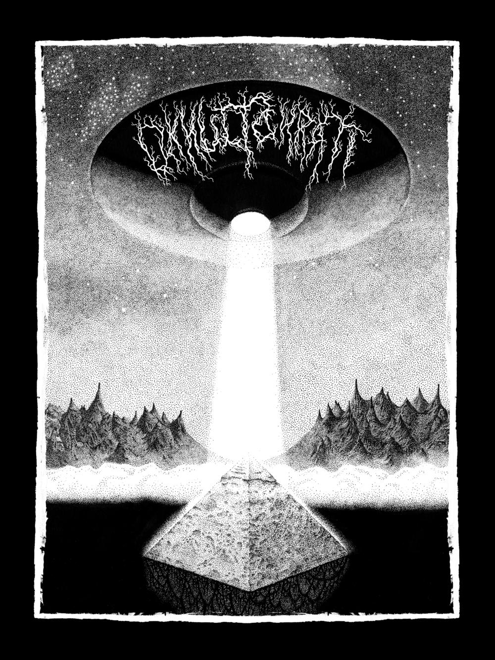 Okkultokrati T-shirt/No Light For Mass CD (2010)