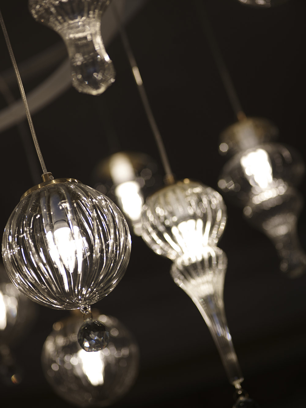Chandelier made for the room - by Louise Eeg