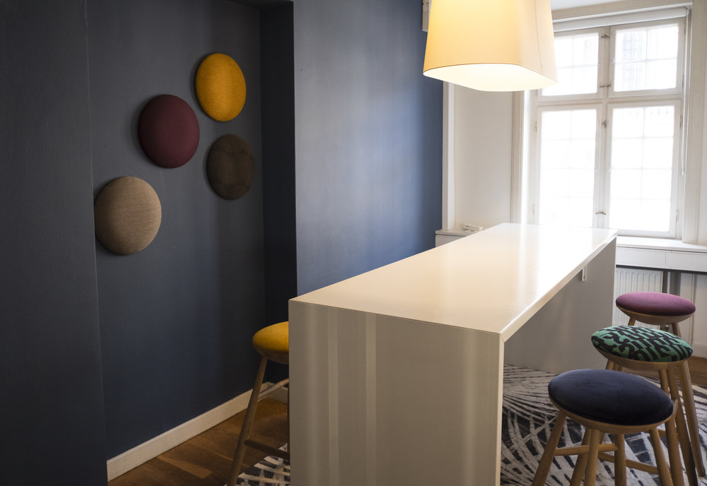 Small meeting room with chairs designed by inhouse design firm Ayanomimi