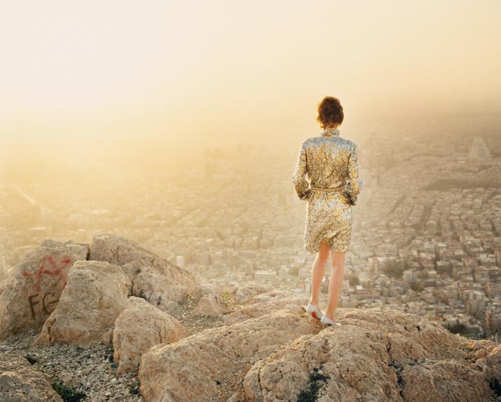Damascus Vogue Shoot - Beautiful sunset overlooking the city