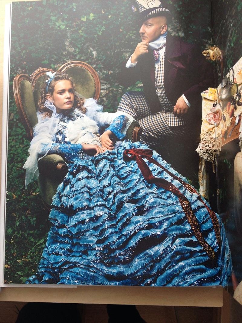 Alice in Wonderland inspired shoot styled by Grace Coddington, photographer Annie Liebovitz