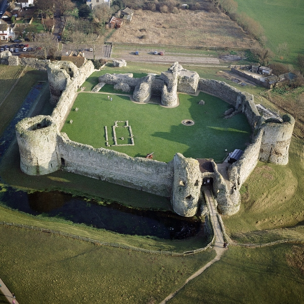 Pevensey Castle from the air