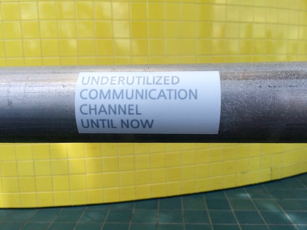 STICKER KOAN #1: UNDERUTILIZED COMMUNICATION CHANNEL UNTIL NOW (2016)  (open edition)