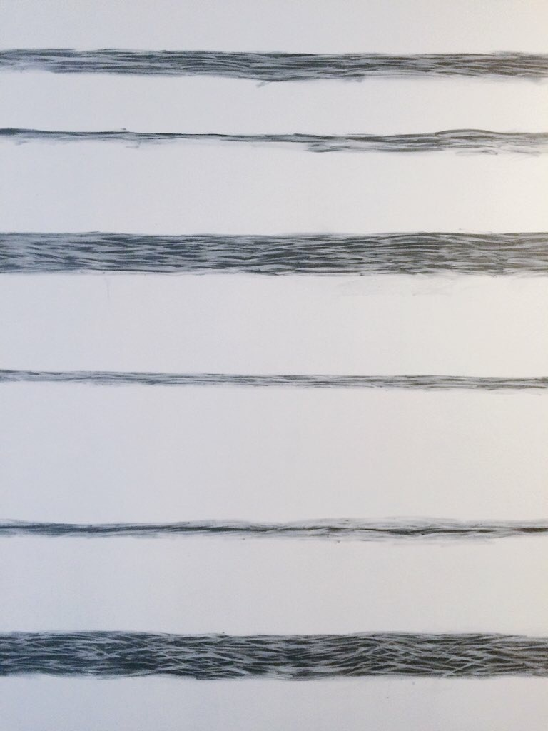 STRIATION MURAL from UNDERNEATH IS BEFORE (2016) - 40 foot graphite mural