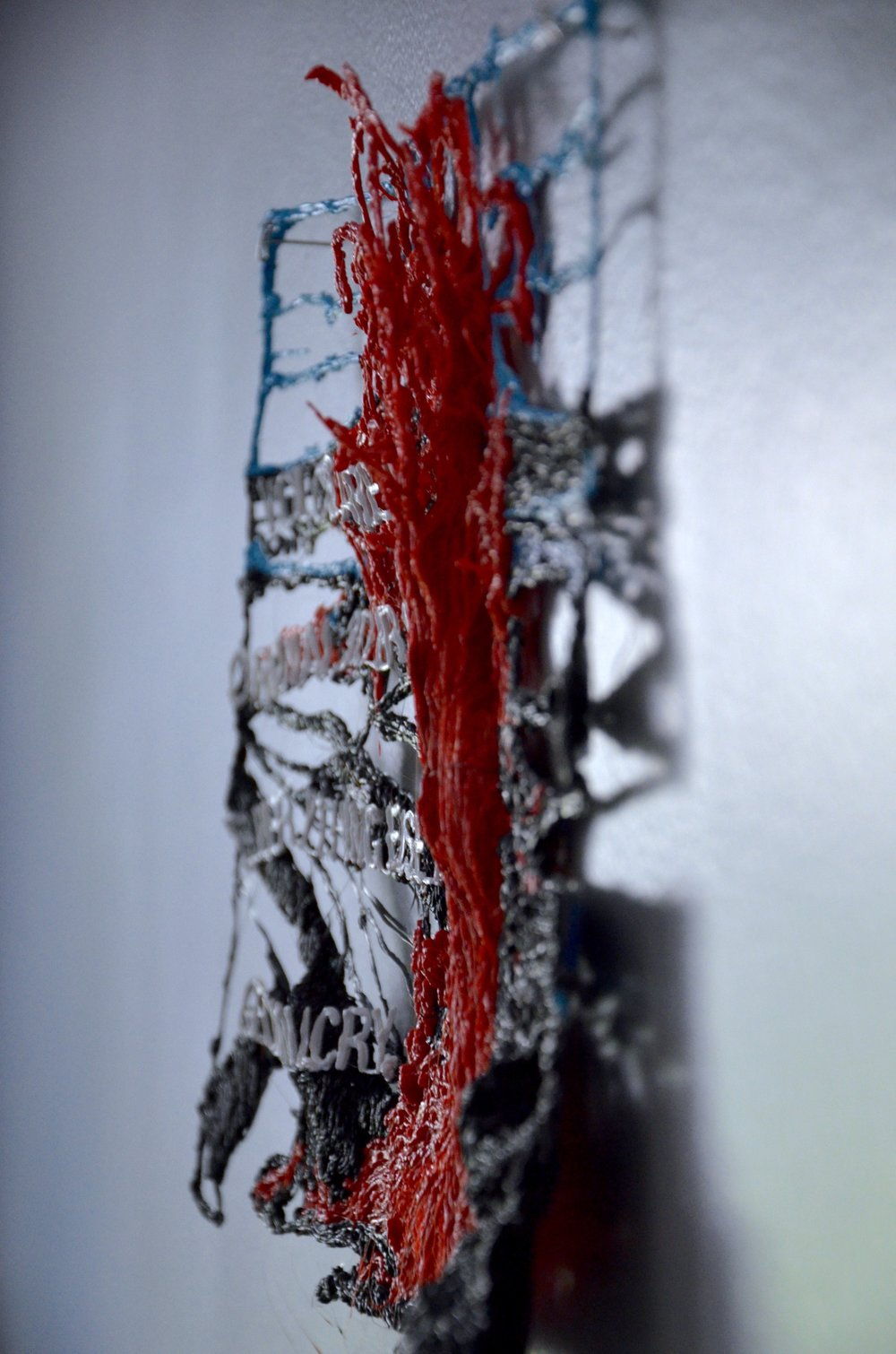 IMAGE # 2 TITLE: VOLCANOES ARE THE ORIGINAL 3D PRINTER. EVERYTHING ELSE IS GEOMIMICRY (2015) (SIDE PROFILE)