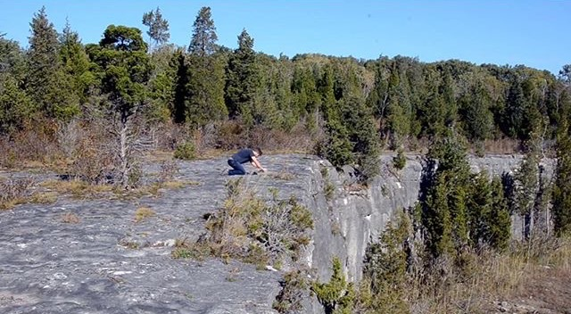 COMING TO TERMS WITH MY GLACIAL NOW (abandoned limestone quarry)  ( video link )