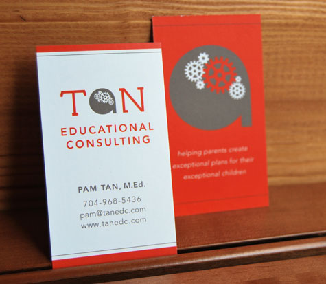 Stir studios business cards tan educational consulting reheart Images