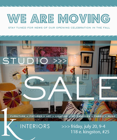 Email Marketing K Interiors Moving Sale Stir Studios