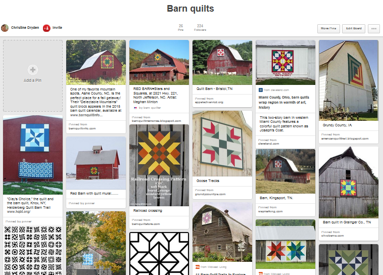 Click through for a collection of barn quilt photos on pinterest
