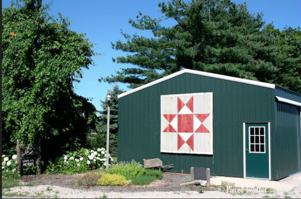 """First known Barn Quilt, Adams County, Ohio. Donna Sue Groves, """"Ohio Star"""" pattern"""