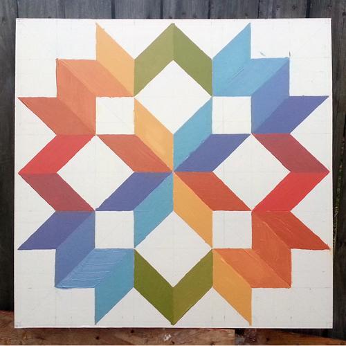 2' x 2' barn quilt, Christine Dryden
