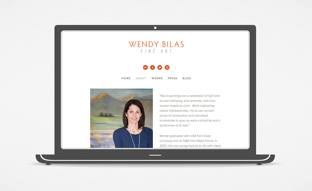 Wendy Bilas Website: About