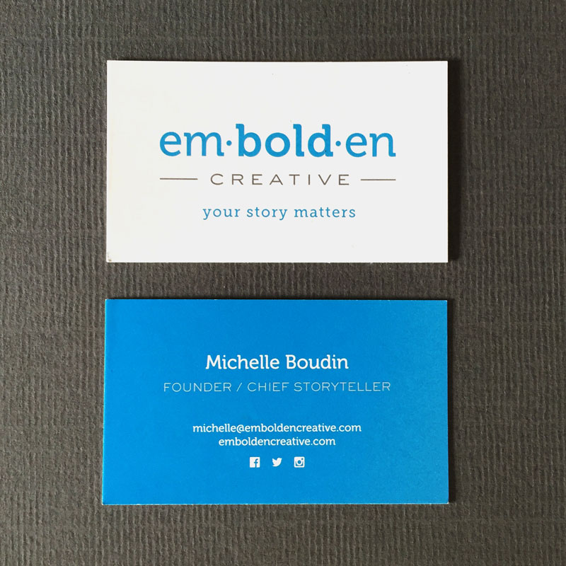 Business cards: Embolden creative