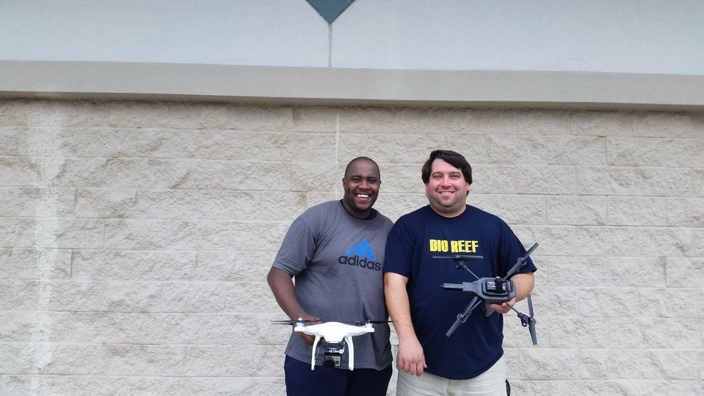 Pictured here with Eddie the Owner of Bio Reef after I got a few aerial shots of his store.