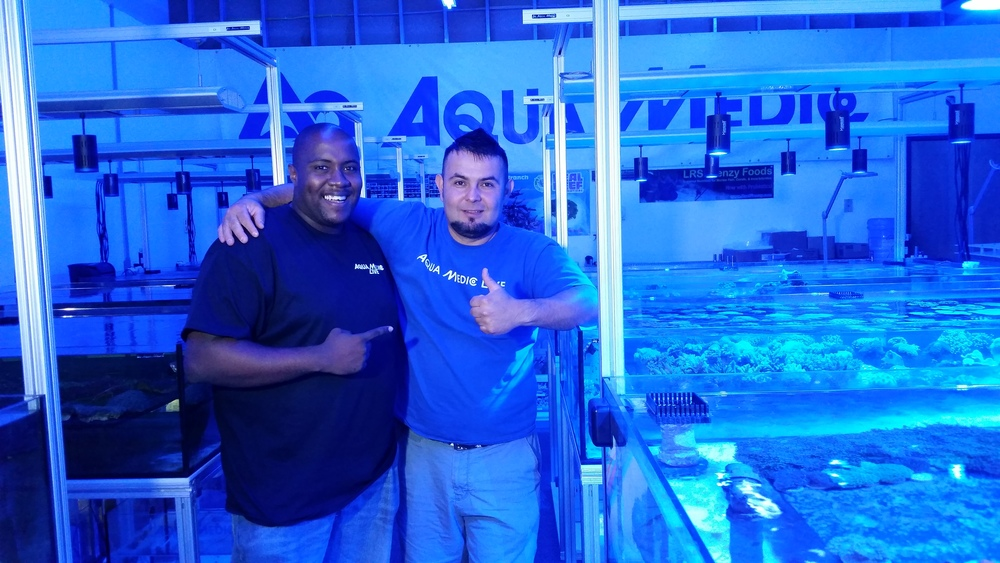 Thomas Brown of ThomasVisionReef and Orlando Salazar CEO of Aqua Medic USA