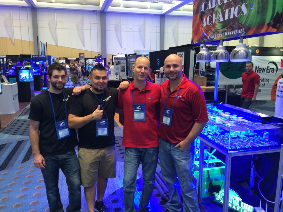 The Aqua Medic Team with Julian Sprung and Chris Cline from Carolina Aquatics