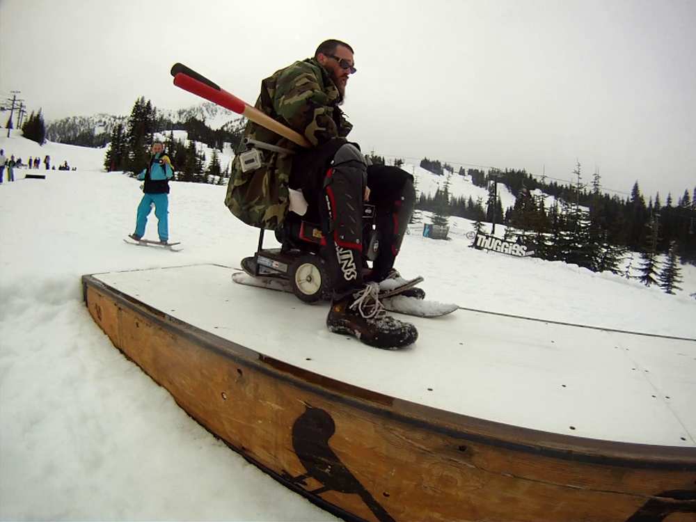 Best jib of the day in my opinion goes to Mr. Snowskate Roundup himself, Vic Zurn with this 50-50 generator slide