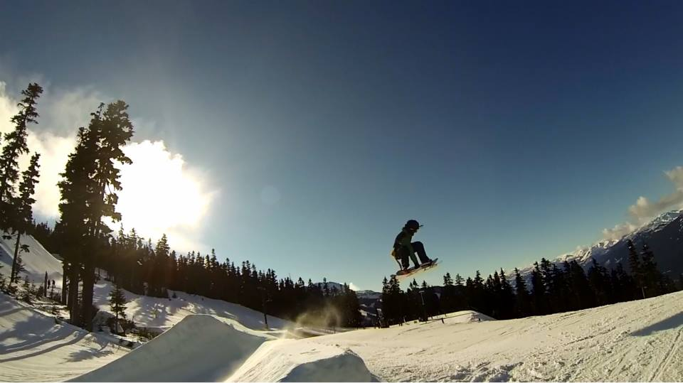 Jesse Davidson sending in the Blackcomb Nintendo park.