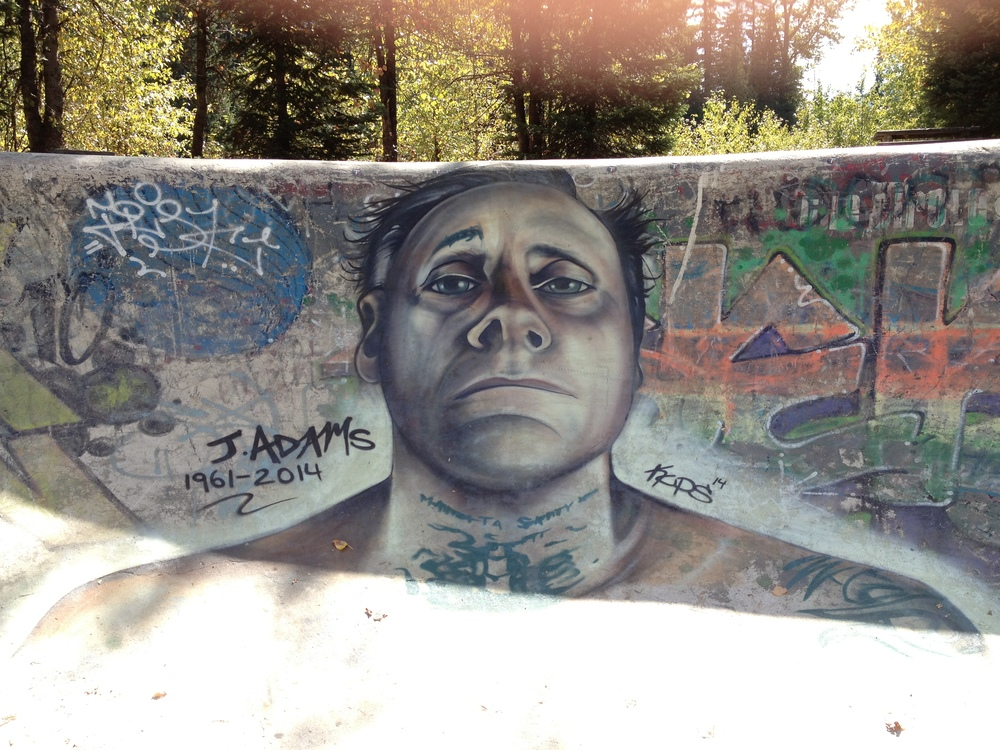Jay Adams memorial piece. Whistler skate bowl september 9, 2014