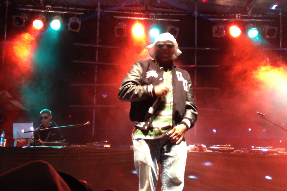 Kool Keith headlined friday night at Phillips Backyard at Rifflandia Music Festival.