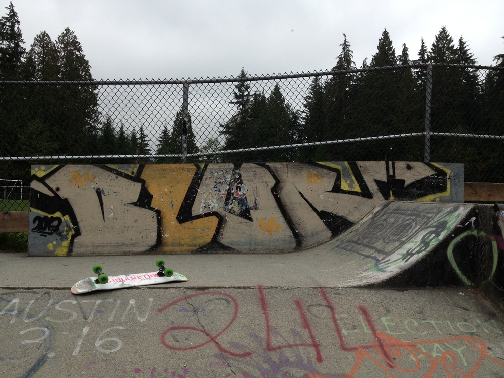 """BLUR"" - Kirkstone skatepark. North Vancouver. October 8, 2014."