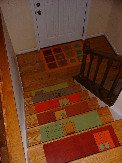 Stair treads and a 2' x 3' at the entry