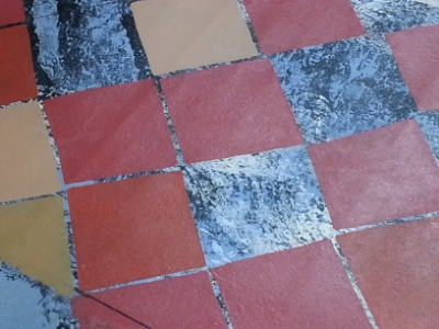 More tile colors are laid in.