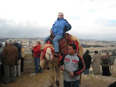 Riding a Camel on Mt of Olives