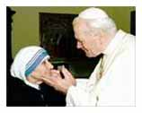 John Paul II, Mother Theresa