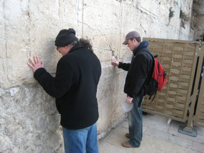 Nate at the Western Wall
