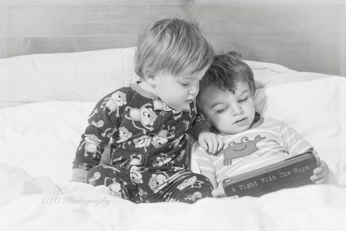 Share a good book with someone you love.  the boys