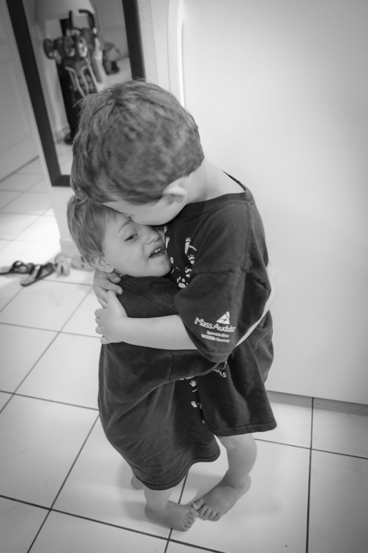 Most importantly, hug the ones you love..as often as you can. the boys..