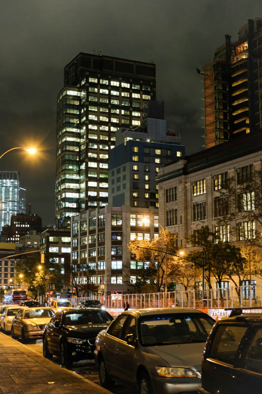 New York at night....walking home to our hotel...feeling happy, full and safe.