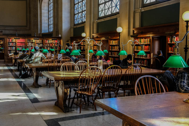 Bates Hall....The main reading room.  Gorgeous, and those lights, and the light streaming in.  This is what I came for.