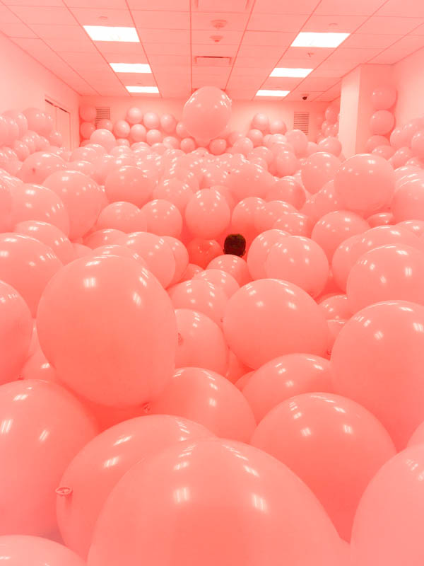 They loved the balloon room.  I had to go in with them but with my claustrophobia, I kept one foot holding the door open for a quick exit.  You really are suppose to exit at the other end but no way was I diving into that mess...