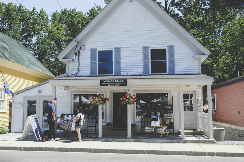After the market, I just walk the streets. This is a great shop...I especially like the name. It seems to speak to me. Bridgton is an old Maine town but they do take good care of the property.