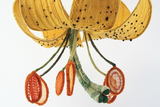 Tatyana Yanishevsky,Tiger Lily, 2011. Knitted yarn and steel. Photo by Karen Philippi.