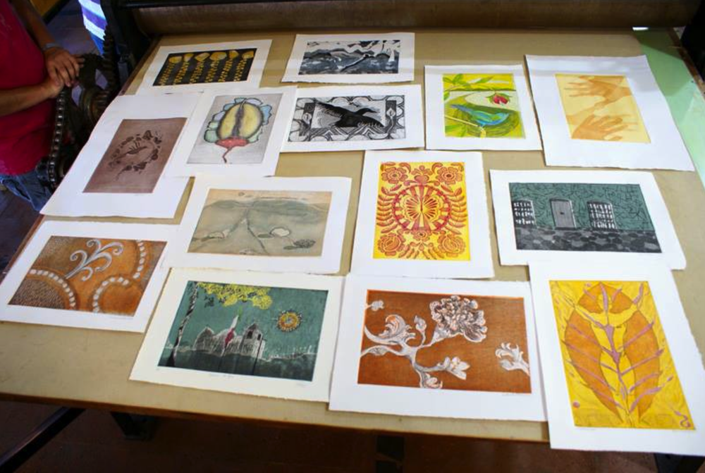 A sampling of everyones work. So much talent and so many different styles.