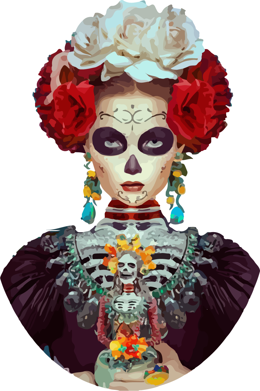 Day Of Dead Girl Mural.png