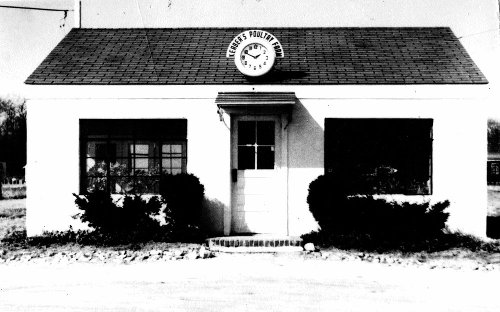 The Kerber's Farm shop that still exists today, seen here in the 1940's.