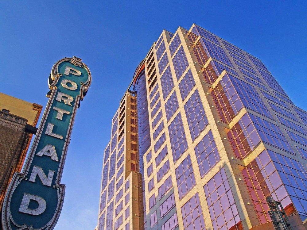 Portland Schnitz Sign and Broadway Building.jpeg