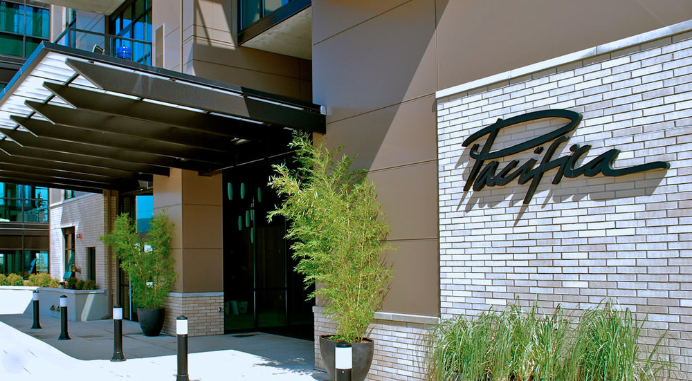 The exterior cladding of the Pacifica Tower imbues a sense of luxury from your first encounter