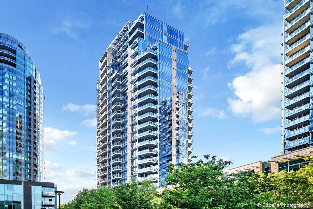 The Meriwether condos are set in the heart of Portland's South Waterfront District