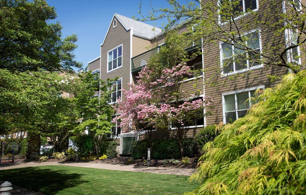 RiverPlace Condos take up several blocks and have more than one street address.