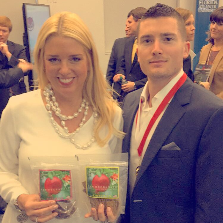 Attorney General Pam Bondi (on left) and Jared Shlager (on right)