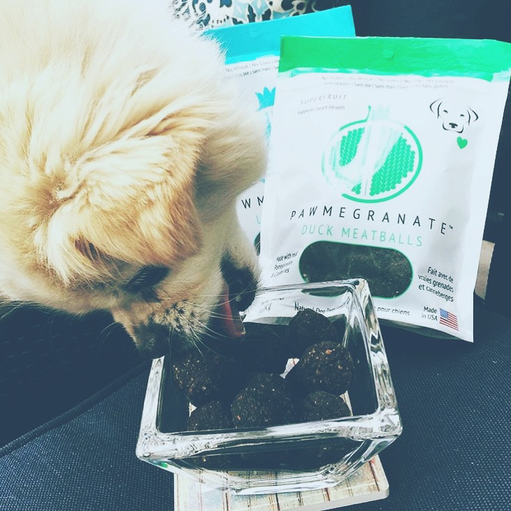 "@enigm4 ""One more...because she loves them that much...thank you @pawmegranate for the amazing duck meatballs and lamb strips."""