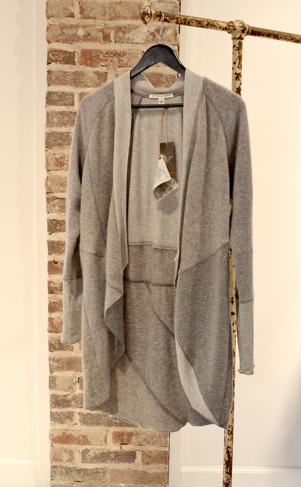 Is there anything better than cashmere? We don't think so.  This asymmetrical cardigan can be worn basically anywhere - $525