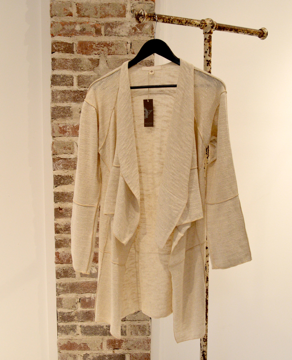 This sparkly ivory cardigan is good for any occasion.  $269